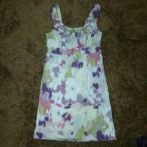 LOFT Size 6 Watercolor Career Mini Dress